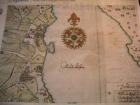 17th century map of the first Swedish Apple Orchards