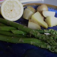Asparagus and Potatoes with Lemon Oil
